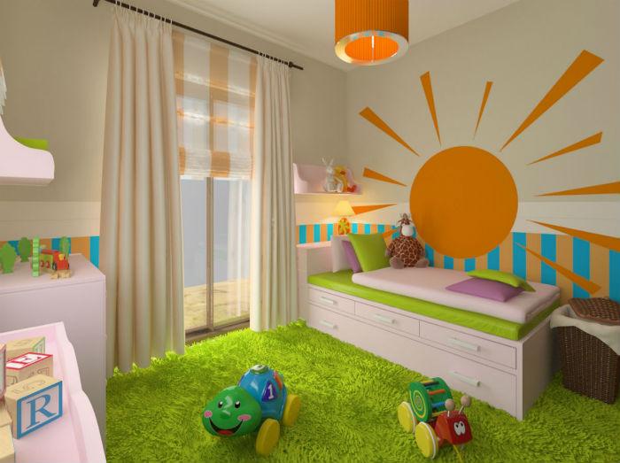 a5c2e34d45a Οικονομικές ιδέες για τη διακόσμηση του τοίχου του παιδικού δωματίου ...